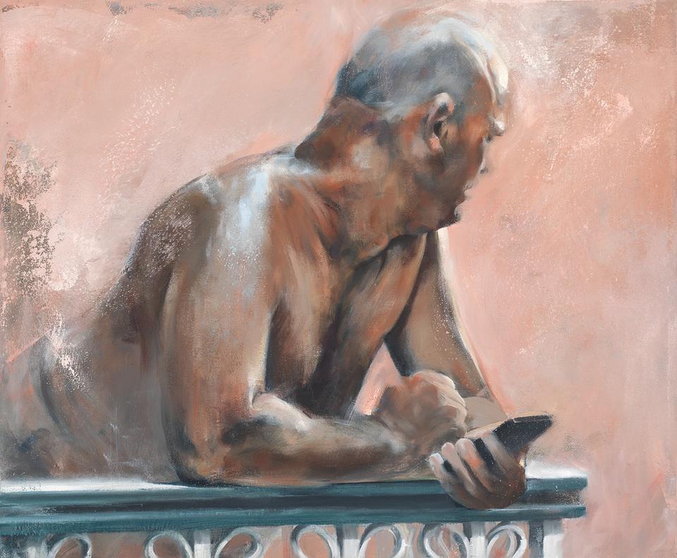 Man On Balcony, Havana